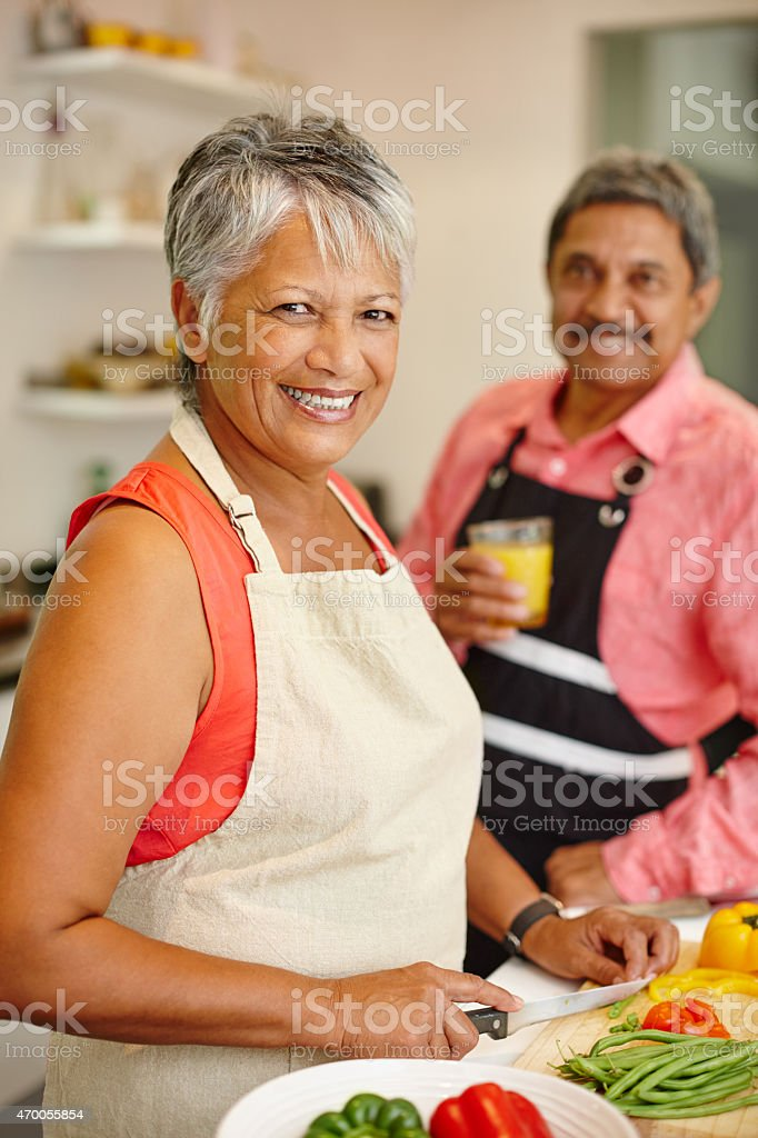Living life happily and healthily stock photo