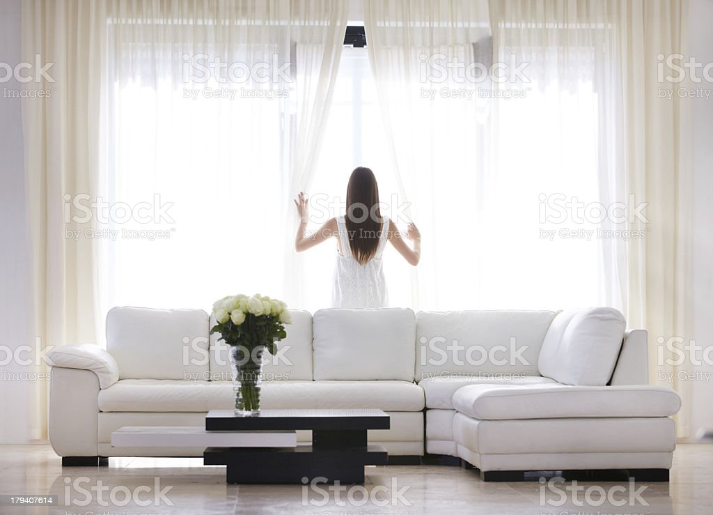 Living life with a luxurious view stock photo