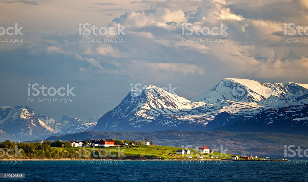 Living many miles above the Arctic Circle in Norway stock photo