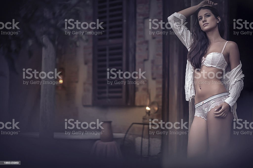 Living on her own royalty-free stock photo