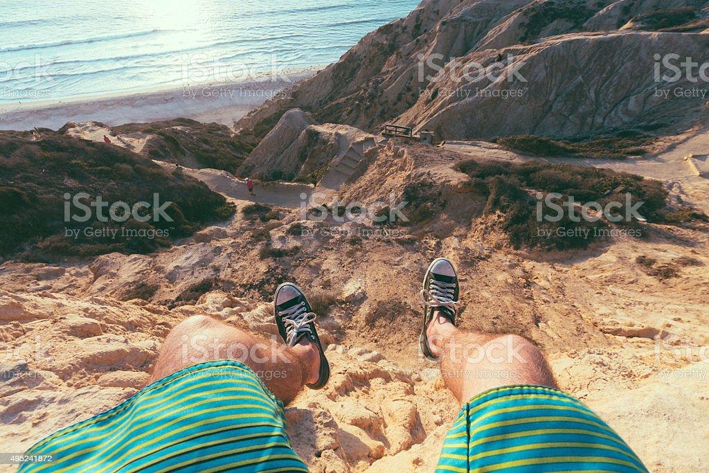 Living on the Edge stock photo