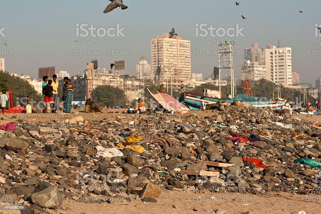 Living on trash stock photo