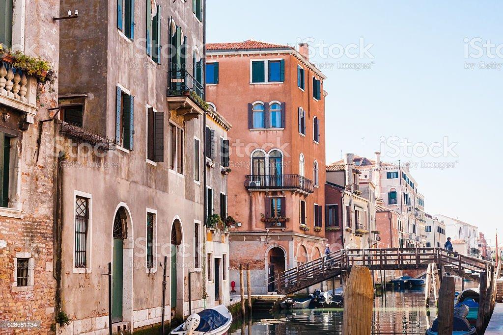 living quarter in Cannaregio sestieri in Venice stock photo