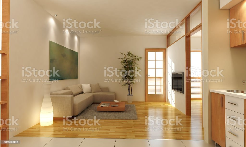 living room 3d model stock photo