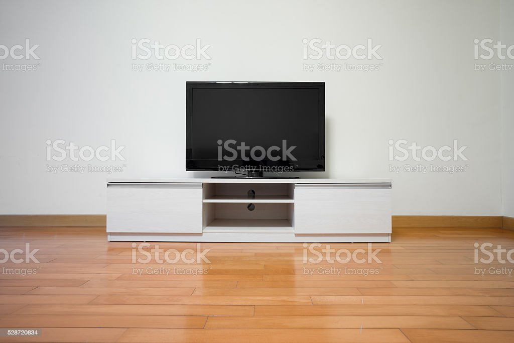 Living room and TV stock photo