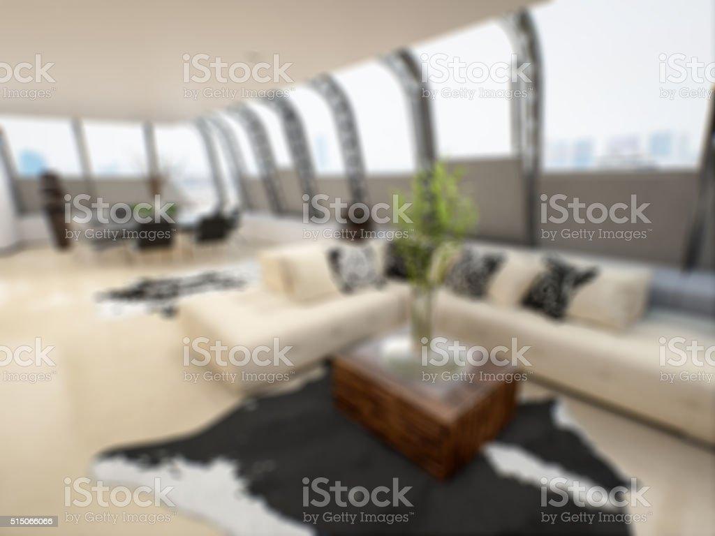 Living Room - Bokeh stock photo