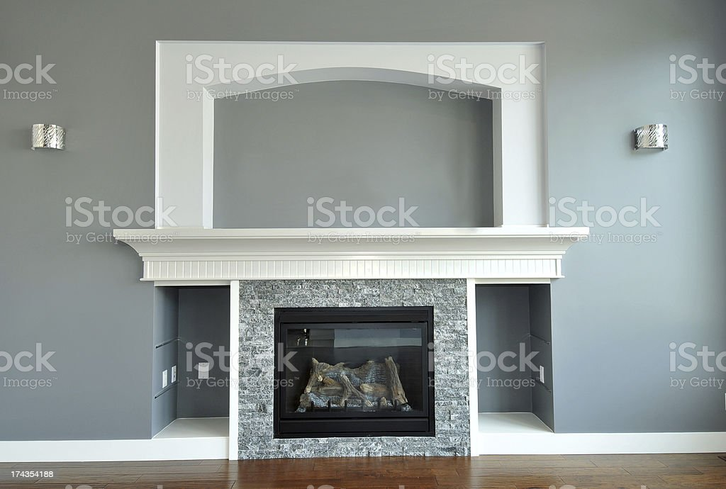 Living Room Feature Wall stock photo