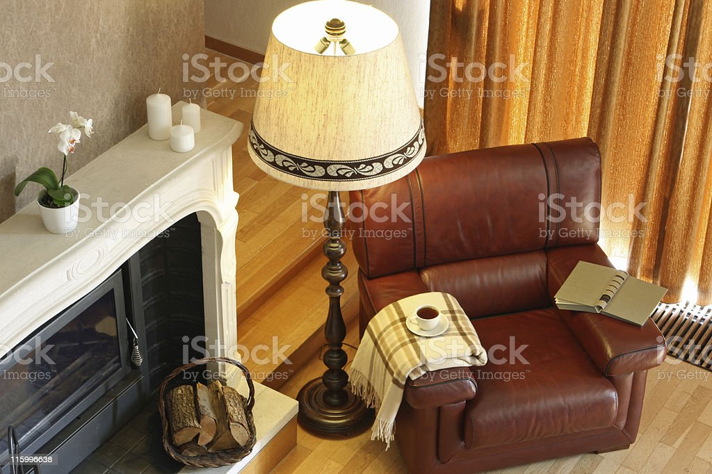 Living room from above royalty-free stock photo