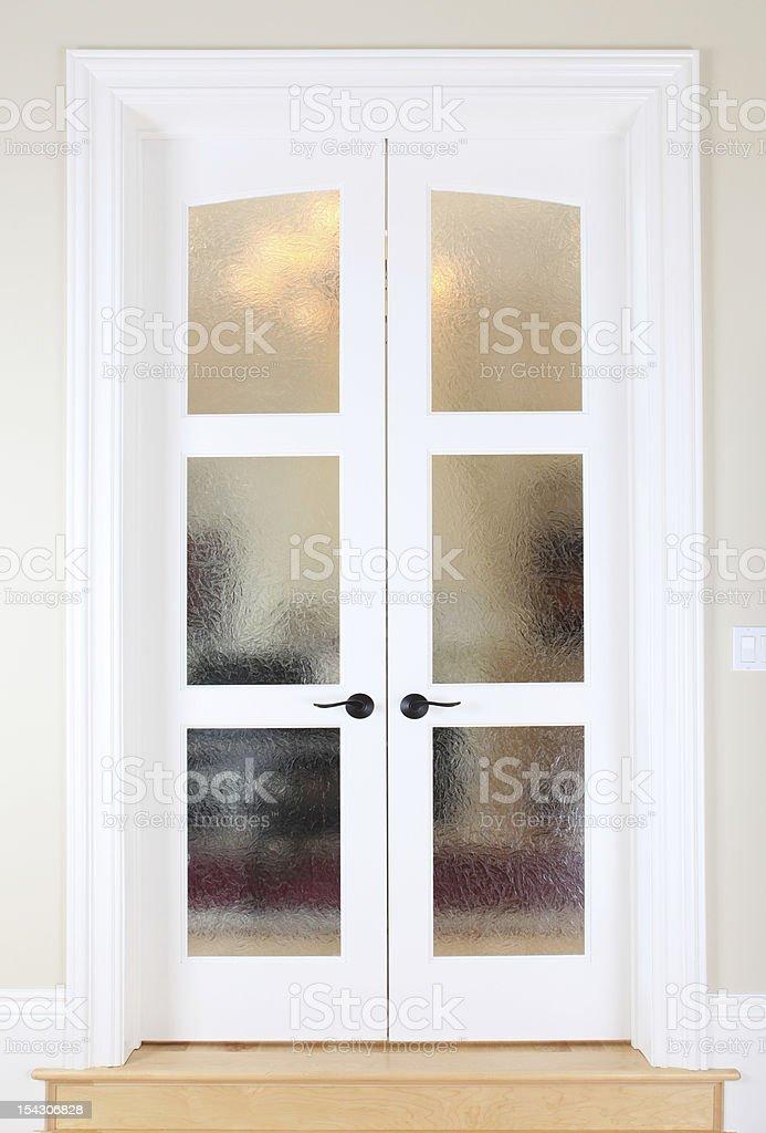 Living Room Glass Door stock photo