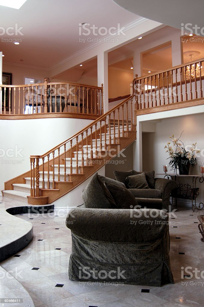 Living Room halway royalty-free stock photo