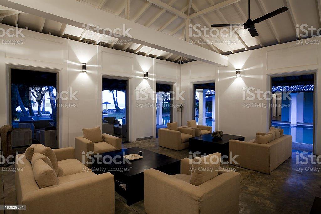living room hotel lobby royalty-free stock photo