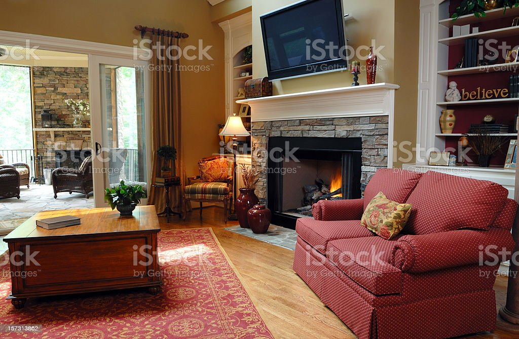 Living Room In Home Inerior royalty-free stock photo