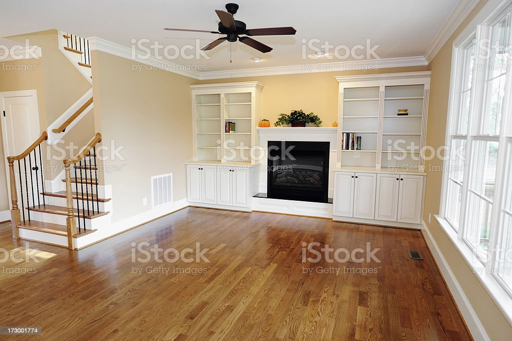 Living Room In Home Interior. royalty-free stock photo