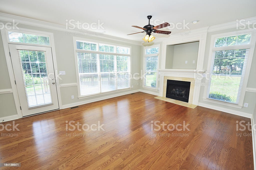 Living Room in Home Interior stock photo