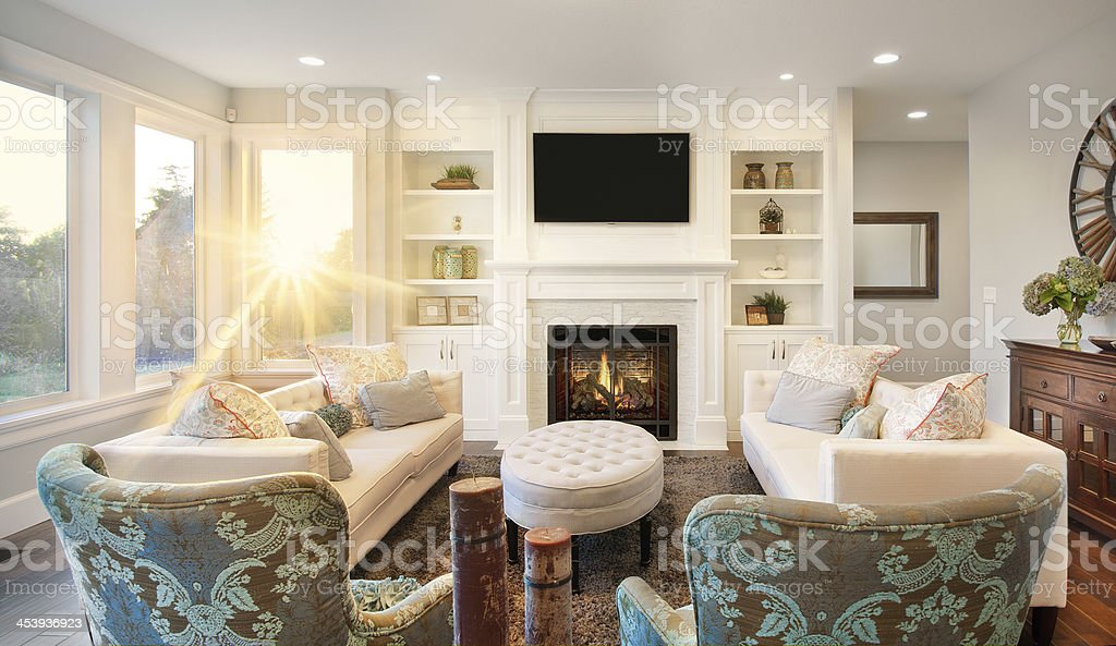 Living Room in Luxury Home royalty-free stock photo