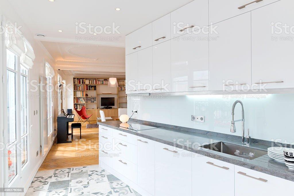 Living Room in Luxury Home stock photo