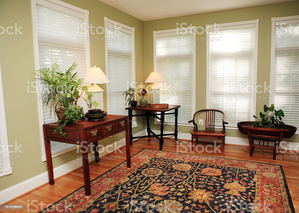 Living Room in Model Home royalty-free stock photo