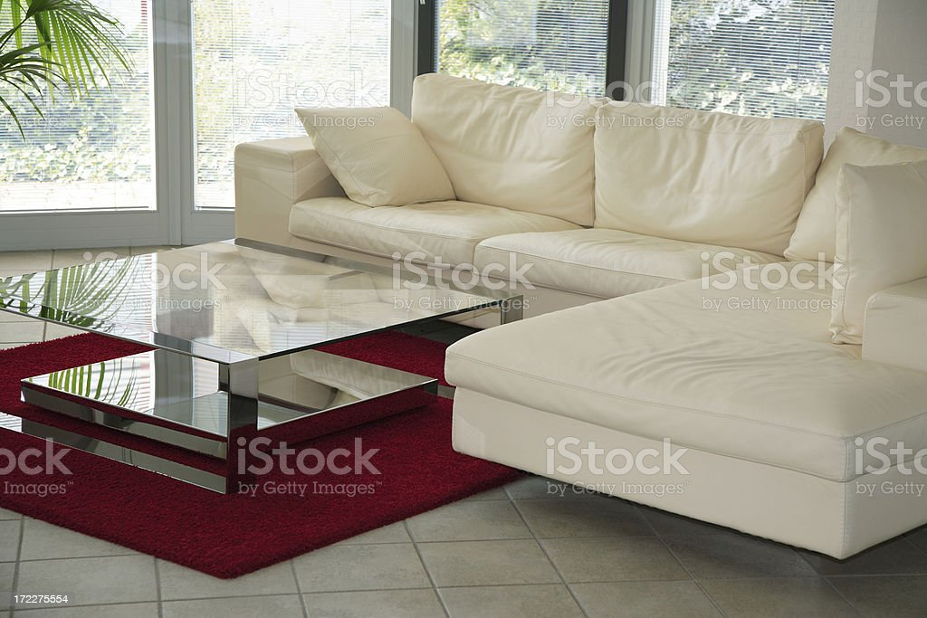 Living Room in Modern Apartment Interior royalty-free stock photo