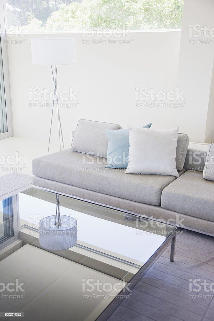 Living room in modern home royalty-free stock photo