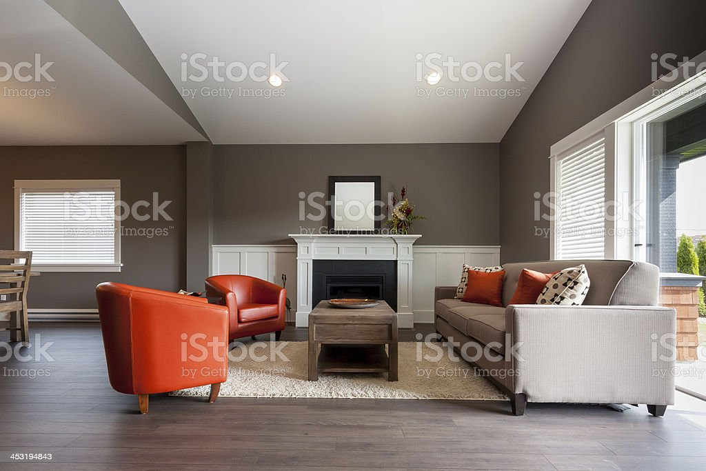 Living Room in New Home stock photo