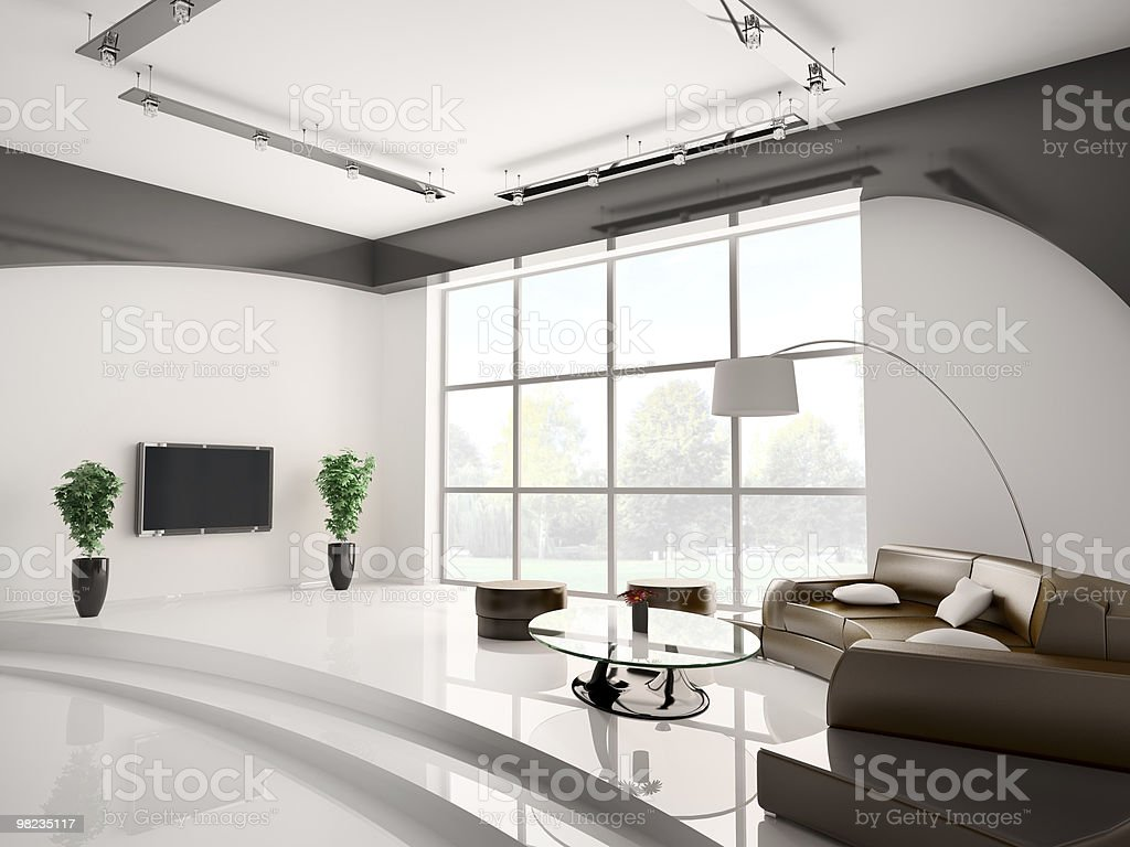 Living room interior 3d royalty-free stock photo