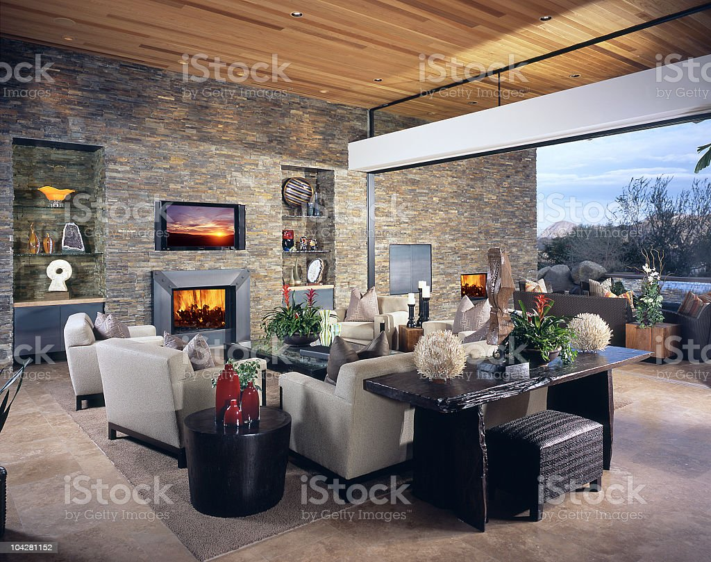 Living room Interior Design Home royalty-free stock photo