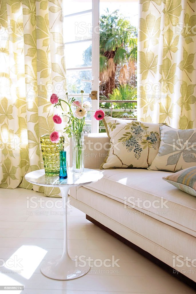 Living room interior on sunnday day stock photo