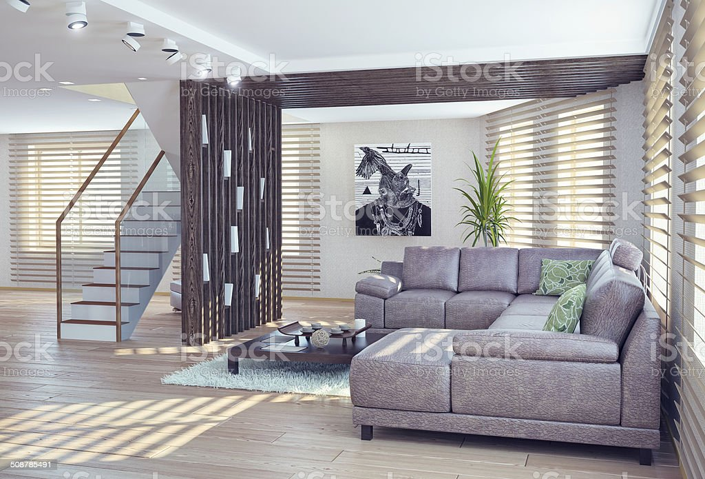 living room interior stock photo