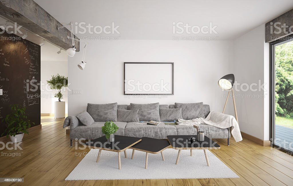 Living room - Minimalism stock photo