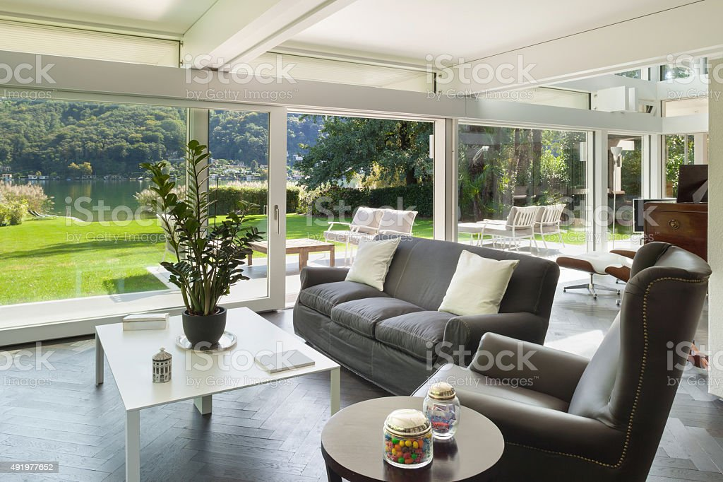 living room of a modern house stock photo