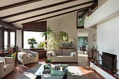 living room of a rustic house