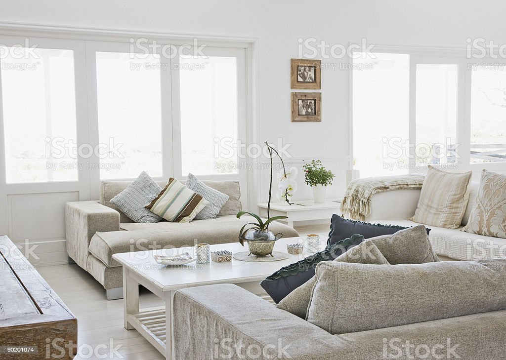Living room of modern home stock photo