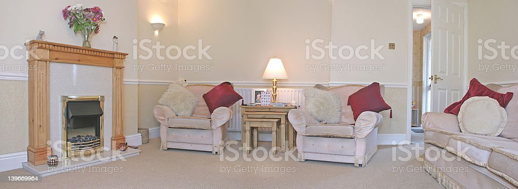 Living Room (Panoramic) royalty-free stock photo