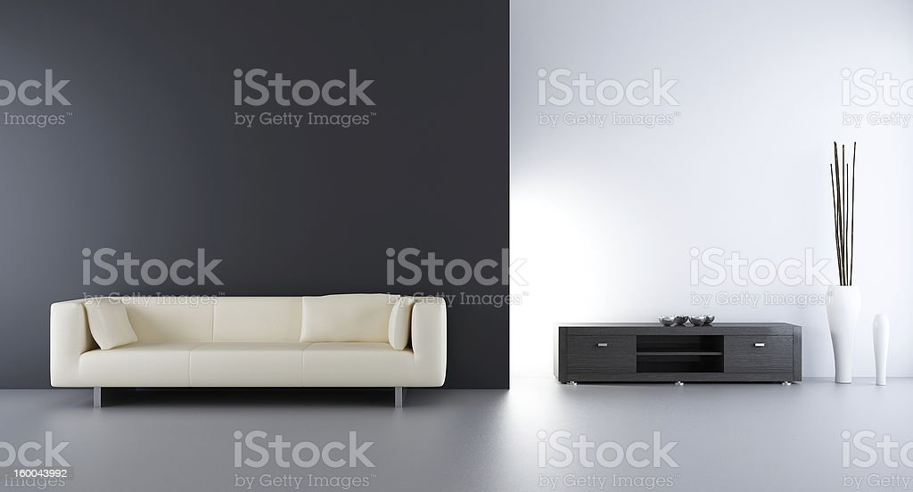 Living room setting royalty-free stock photo