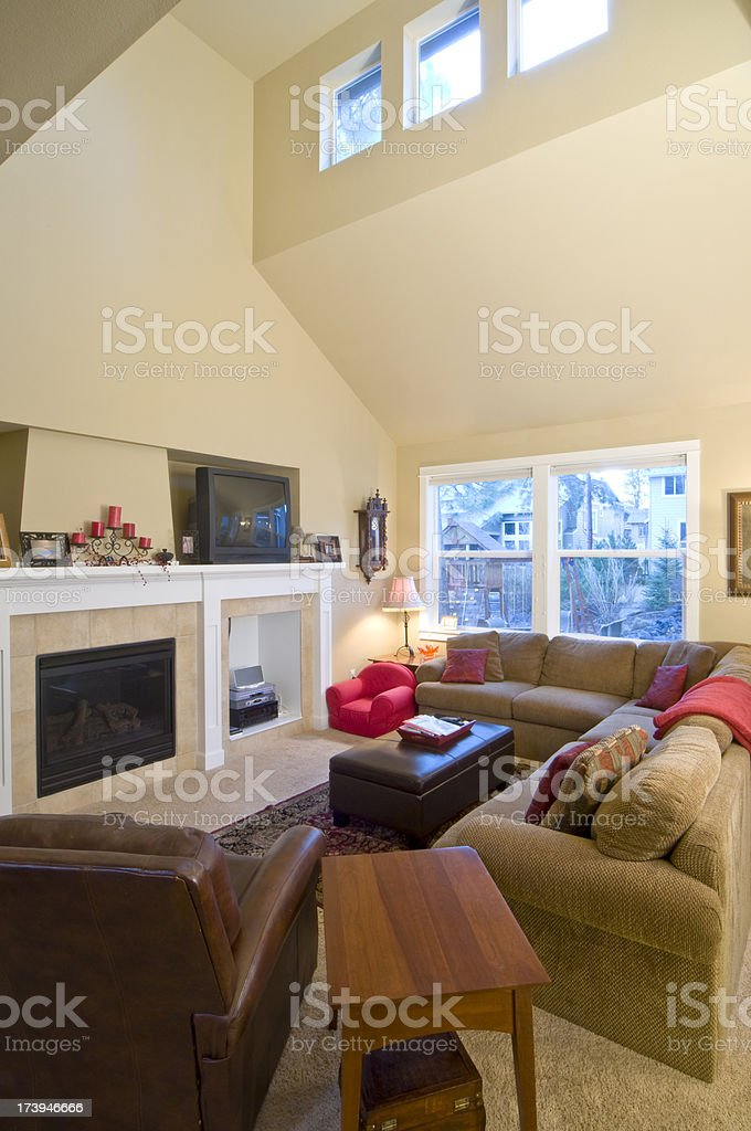 Living room that is well furnished royalty-free stock photo