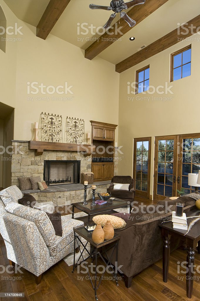 Living room vertical royalty-free stock photo