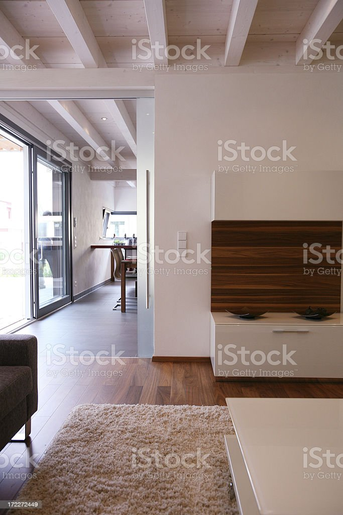 Living room view stock photo