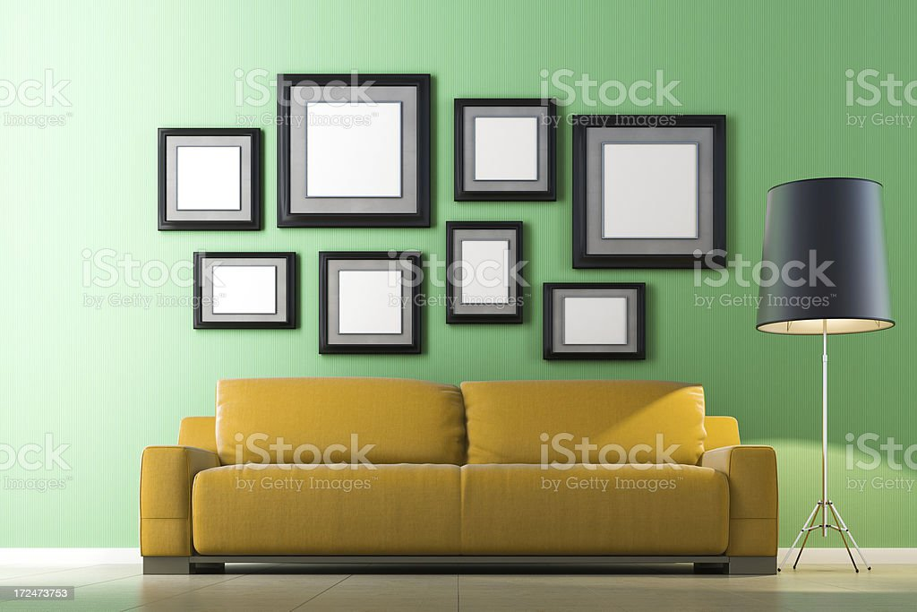 Living Room with Photos royalty-free stock photo