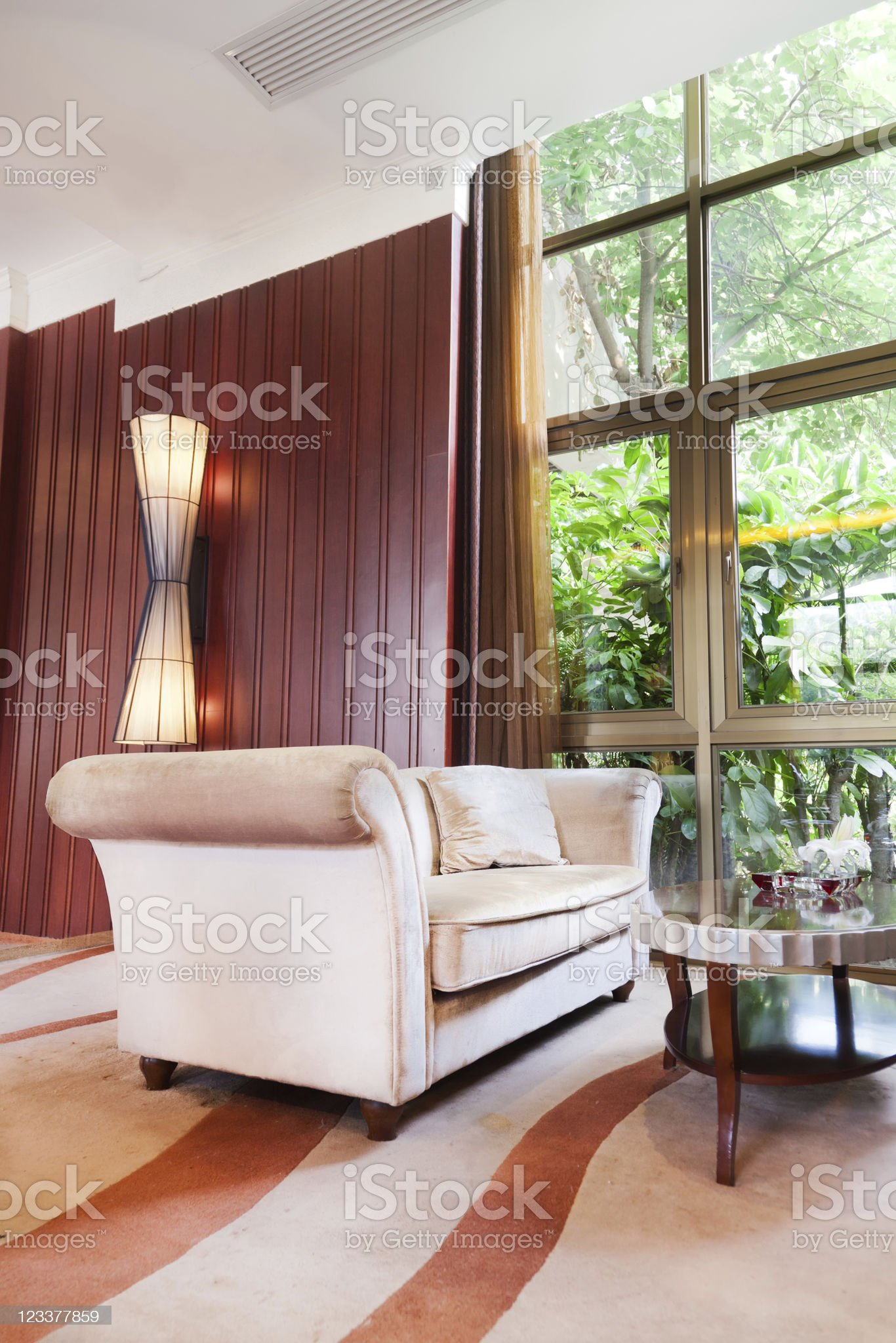 Living room with sofa and table royalty-free stock photo