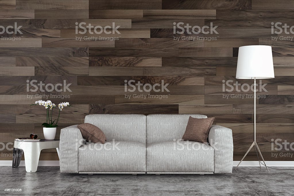 Living room with sofa stock photo