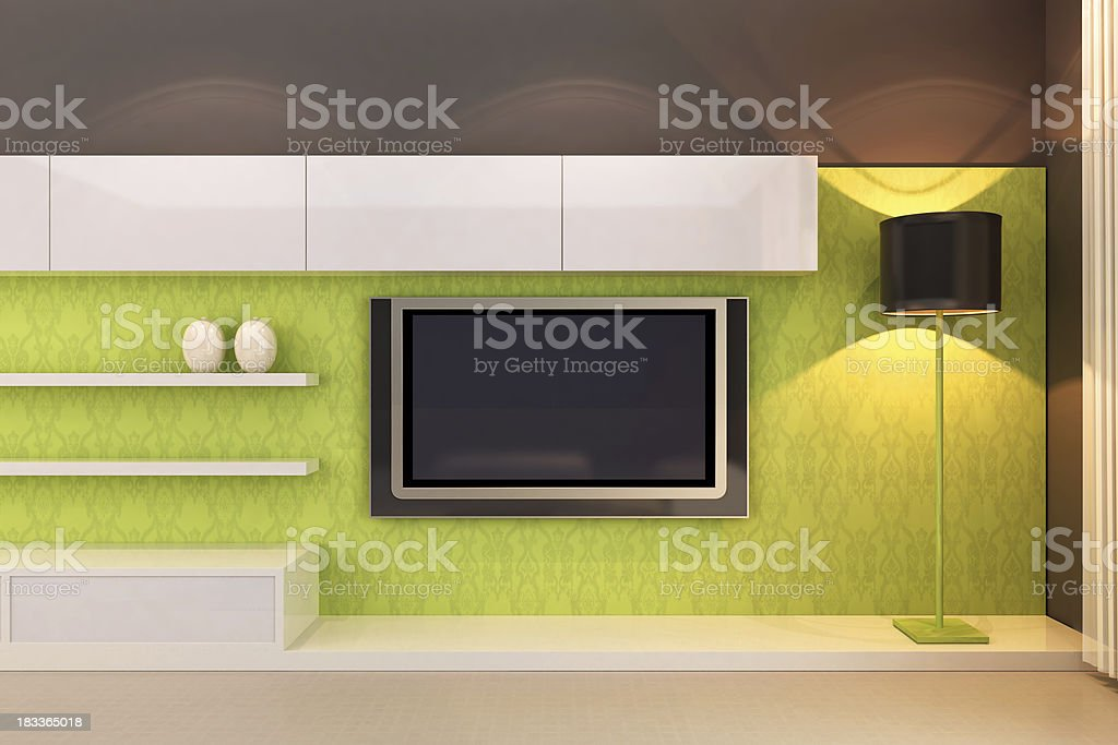 Living Room with TV royalty-free stock photo
