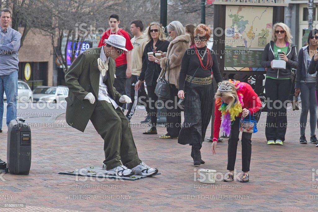 Living Statue Street Artist stock photo
