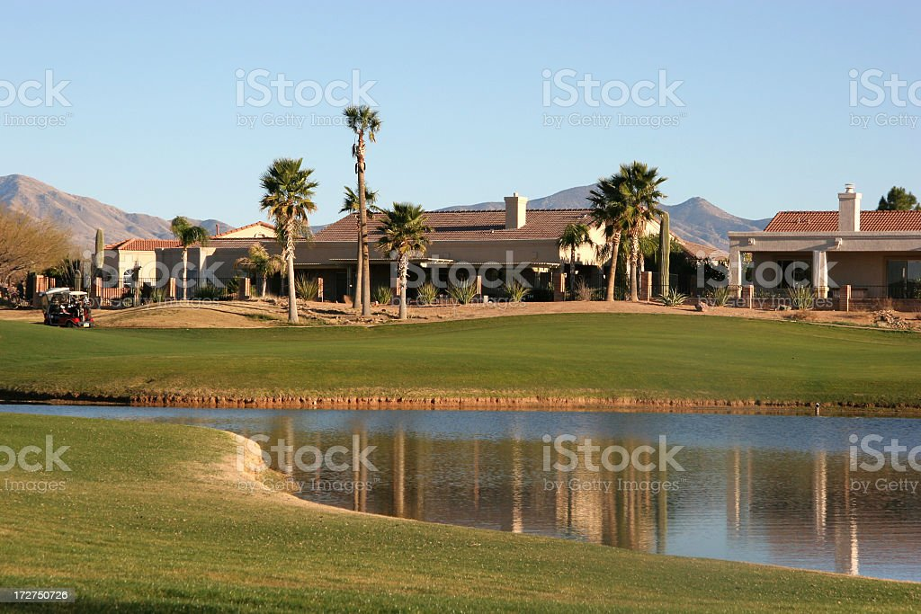 Living The Country Club Life On A Golf Course royalty-free stock photo