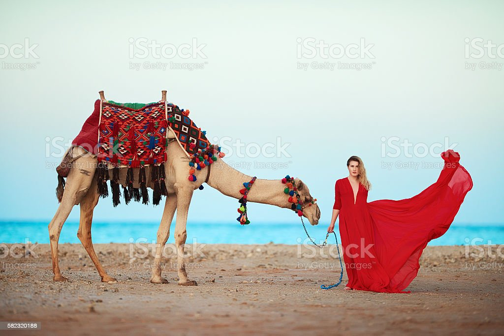 living the exotic dream stock photo
