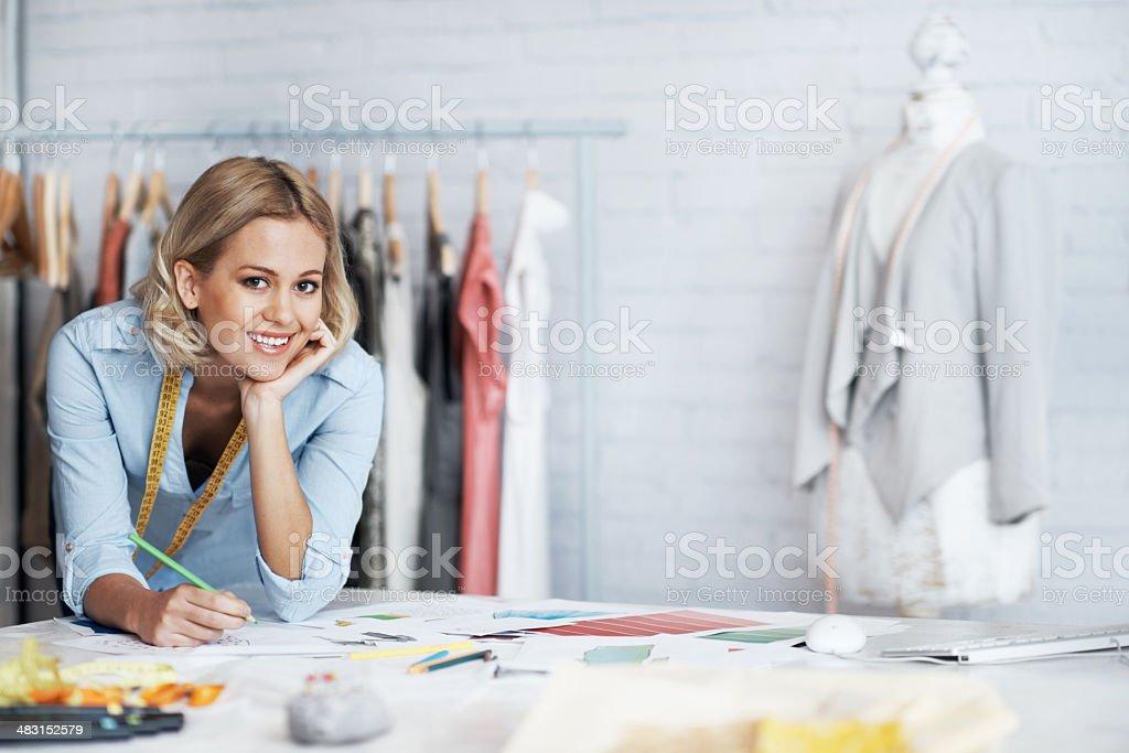 Living the fashion dream stock photo