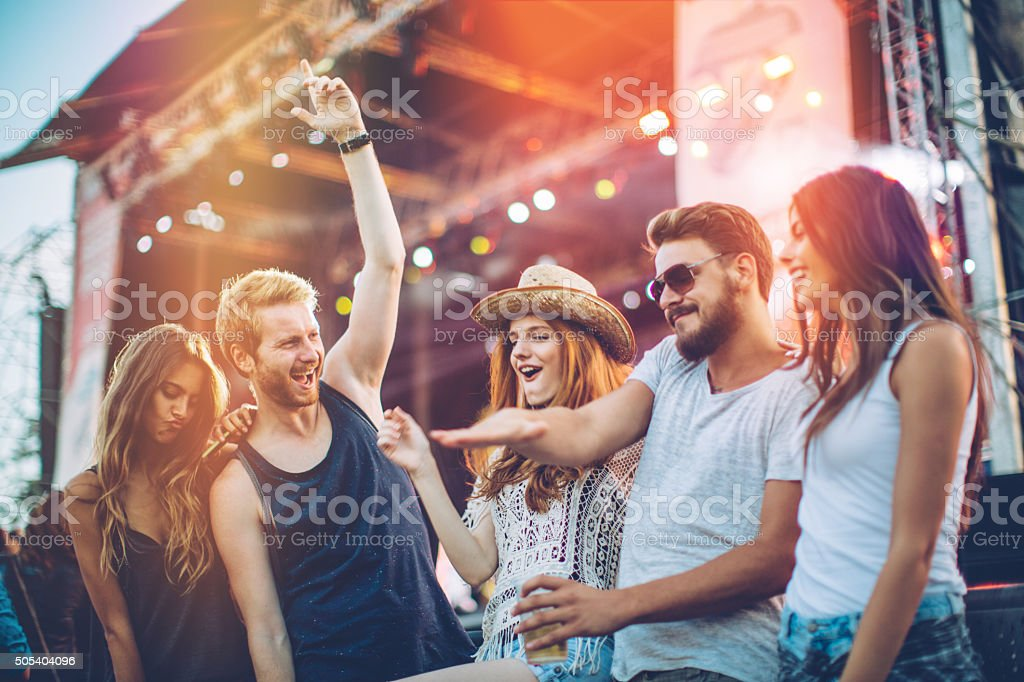 Living the festival life stock photo