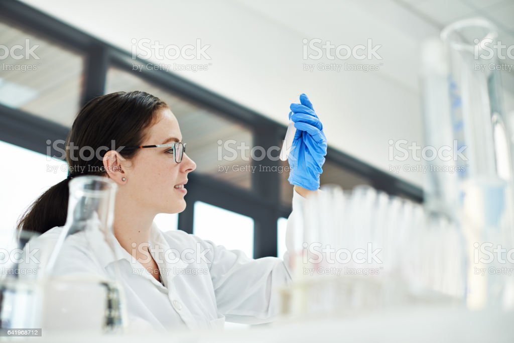 Living the laboratory lifestyle stock photo
