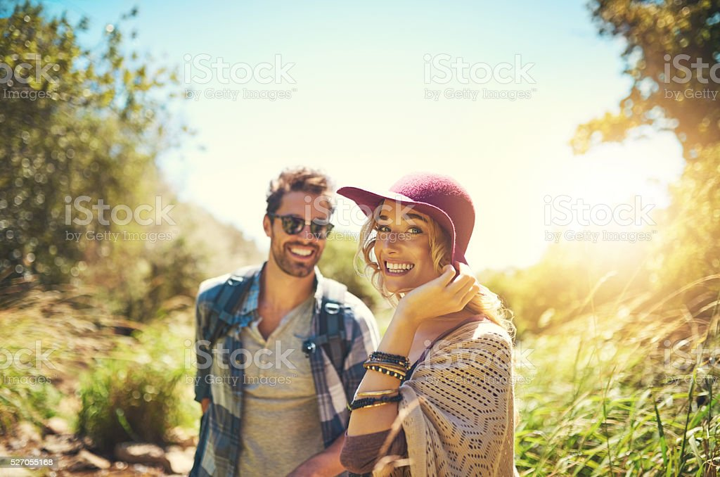 Living the open air life stock photo
