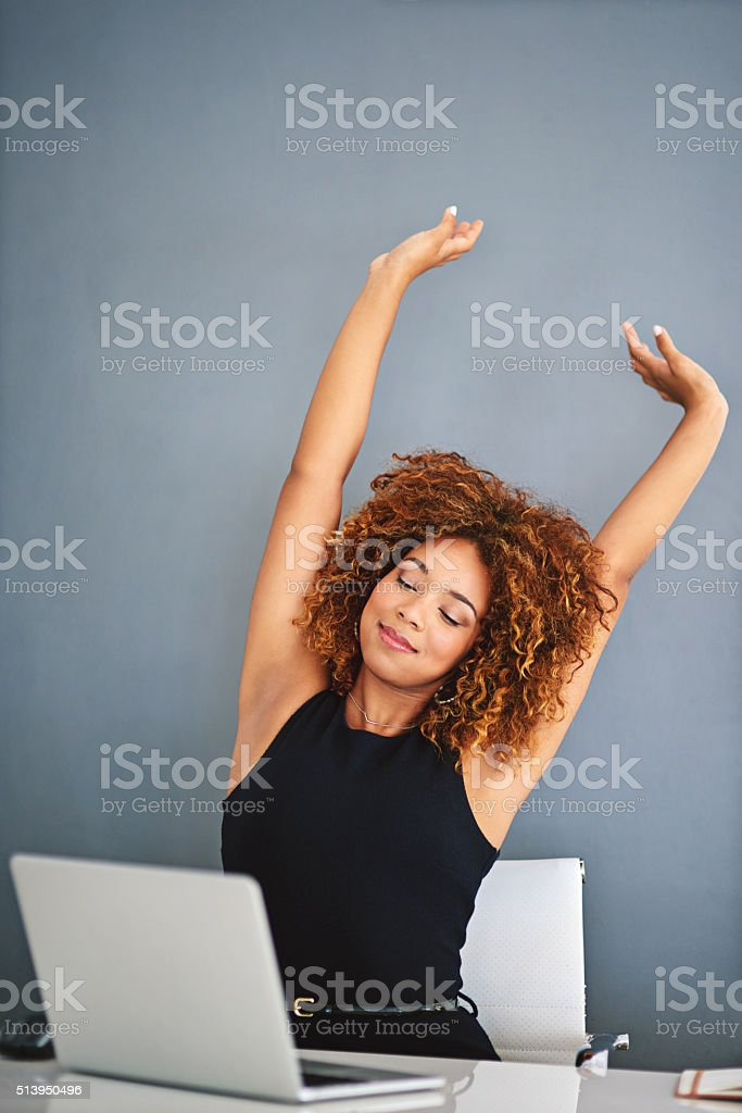 Living the professional dream stock photo