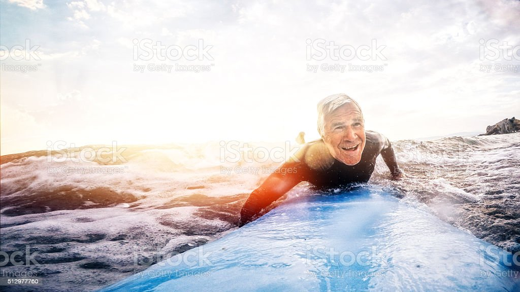 Living to the fullest stock photo